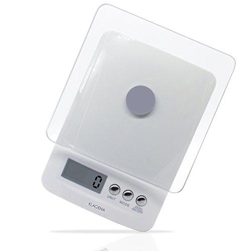 KLAGENA-Balance-de-cuisine-lectronique–cran-LCD-Blanc-5-kg1-g–Balance-lectroniqueBalance-de-cuisinePse-lettresBalance-de-tableBalance–affichage-numrique–avec-2-ans-de-garantie-0