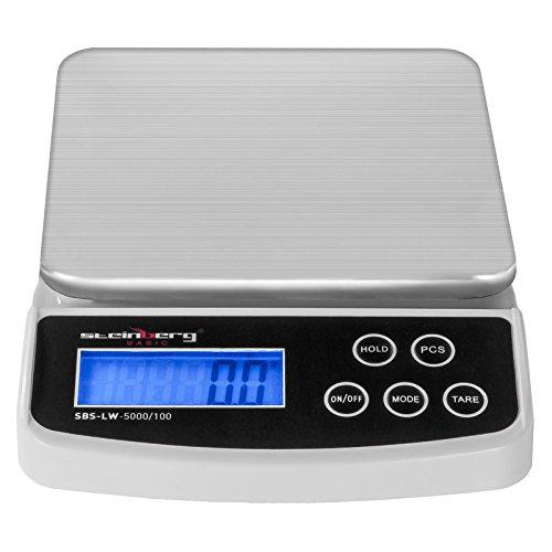 Steinberg-Pse-lettre-Balance-Poste-Digitale-Professionnelle-SBS-LW-5000100-pse-jusqu-5-kg–01-g-prs-plate-forme-de-pese-152-x-152-cm-units-de-mesure-g-kg-lb-oz-tl-ct-0