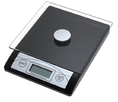 Genie-3623-EDS-Balance–courrier-et-de-cuisine-gradue-de-1-g–5-kg-en-plastique-rsistant-avec-plateau-de-verre-et-cran-digital-Noir-0